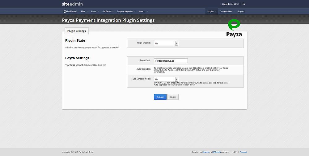 Payza Payment Gateway Plugin - Reservo